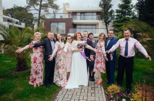 Свадьба под ключ для небольшой компании за 350 000 рублей из 10 человек